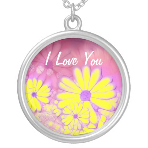 I LOVE YOU    STERLING NECKLACE