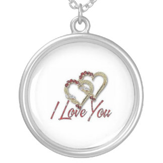I love You - Sterling Silver Necklace