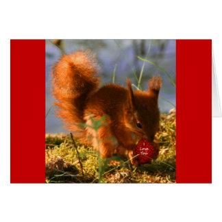 I Love You Strawberry Card