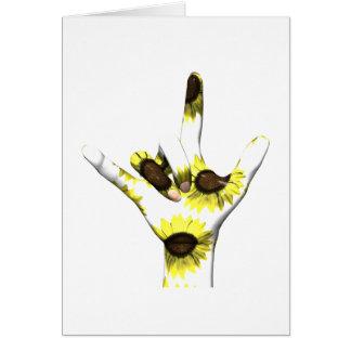 I Love You Sunflower Card