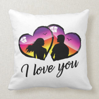 I love you sunset Pillow
