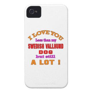 I love you Swedish Vallhund Dog iPhone 4 Cases