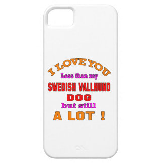 I love you Swedish Vallhund Dog iPhone 5 Cases