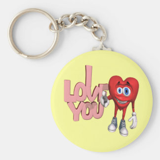 I Love You T-shirts and Gifts Basic Round Button Key Ring