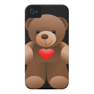 I Love You Teddy Bear Case-Mate iPhone 4 Cases