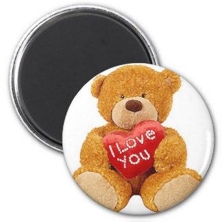 I Love You teddy bear Refrigerator Magnets