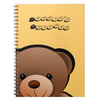 I Love You Teddy Bear Spiral Notebook