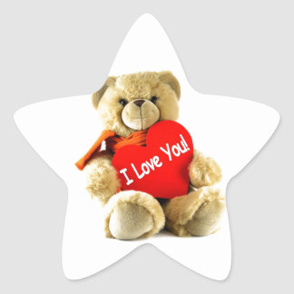 I love you, teddy love, by healing love star stickers