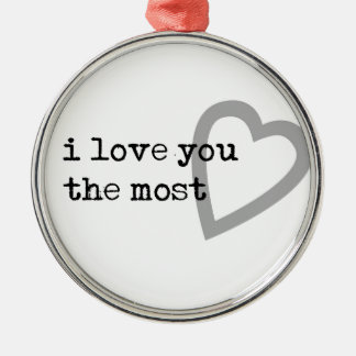 i love you the most cute heart christmas ornament