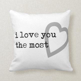 i love you the most cute heart cushion