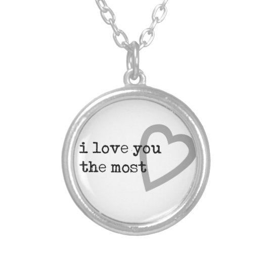 i love you the most cute heart silver