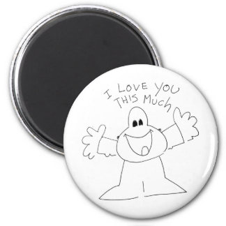 I love you this much! 6 cm round magnet