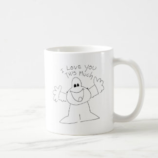 I love you this much! basic white mug