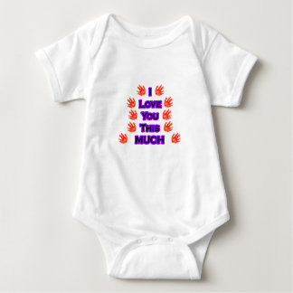 I Love You This MUCH Black-LargestPurple Baby Bodysuit