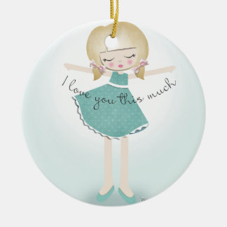 I Love You This Much Christmas Ornament