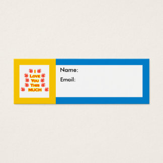 I Love You This Much jGibney The MUSEUM Zazzle Gif Mini Business Card