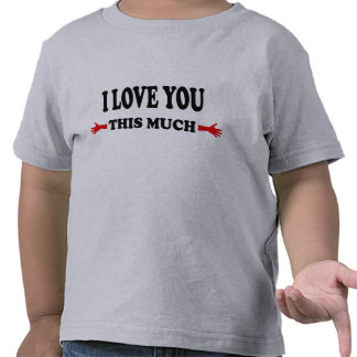 I love you this Much Open Arms T Shirt