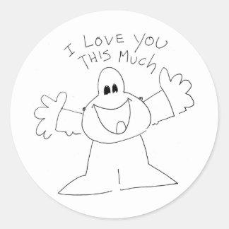 I love you this much! round sticker