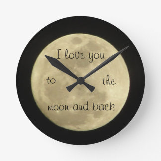 I love you to the moon anc back clock