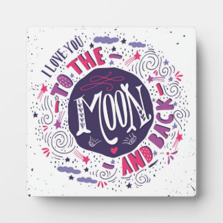 I Love You To The Moon And Back 4 Photo Plaques