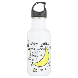 I love you to the moon and back 532 ml water bottle