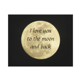 I love you to the moon and back art canvas canvas print