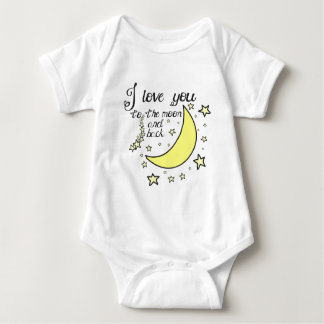 I love you to the moon and back baby bodysuit