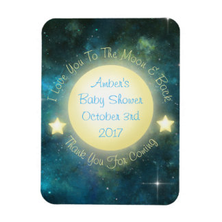I Love You To The Moon and Back Baby Shower Magnet