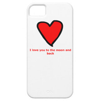 I love you to the moon and back barely there iPhone 5 case