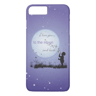I Love You to the Moon and Back Blowing Bubbles iPhone 7 Plus Case