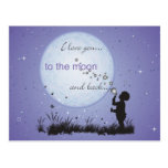 I Love You to the Moon and Back-Cards Postcards