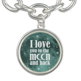 I love you to the Moon and back charm bracelet
