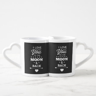 I Love You To The Moon And Back Coffee Mug Set