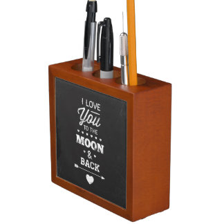 I Love You To The Moon And Back Desk Organiser