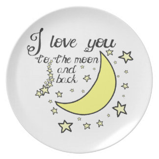 I love you to the moon and back dinner plates