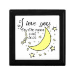I love you to the moon and back gift boxes