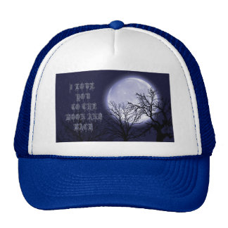 I love you to the moon and back hats