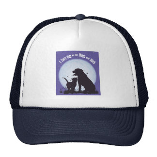 I Love You to the Moon and Back Mesh Hat