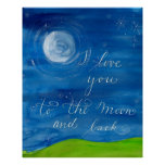 """""""I love you to the moon and back"""" Love poster"""