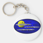 I LOVE YOU TO THE MOON AND BACK - LOVE TO BE ME KEY CHAINS