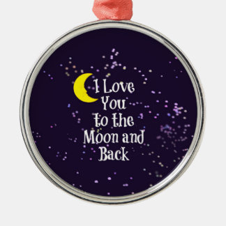 I Love You to the Moon and Back - Man in the Moon Christmas Ornament