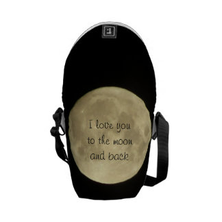 I love you to the moon and back mini messanger bag courier bag