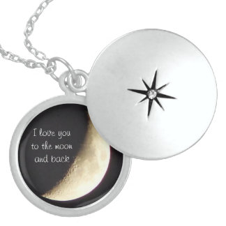 I love you to the moon and back necklace/locket round locket necklace