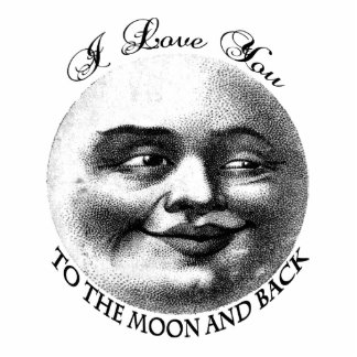 I love you to the moon and back photo cut outs