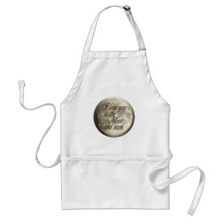 I Love You to the Moon and Back Realistic Lunar Apron