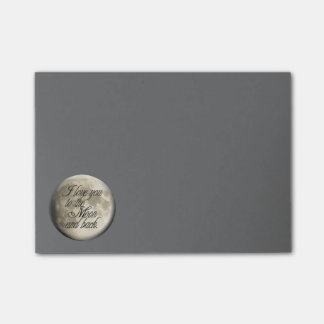 I Love You to the Moon and Back Realistic Lunar Post-it Notes