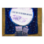I Love You to the Moon and Back Robots Notecards