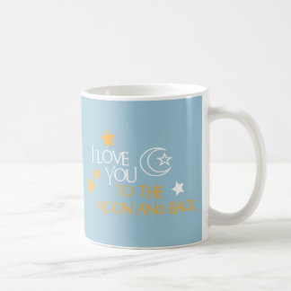 I Love You TO THE MOON AND BACK Unique Gift Friend Basic White Mug