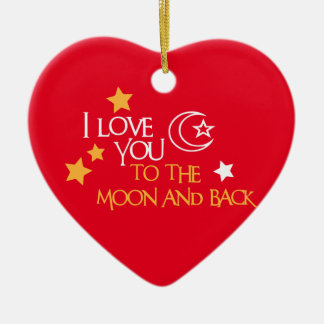 I Love You TO THE MOON AND BACK Unique Gift Friend Christmas Ornament