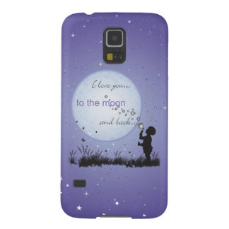 I Love You to the Moon and Back-Unique Gifts Cases For Galaxy S5
